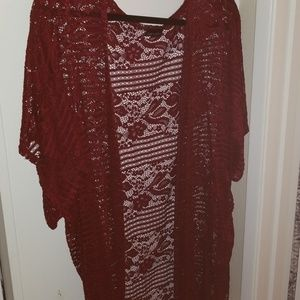 Red Lace Cardigan